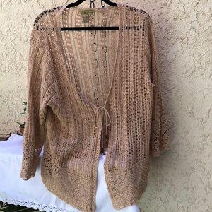 Boho/hippie style-open crocheted sweater